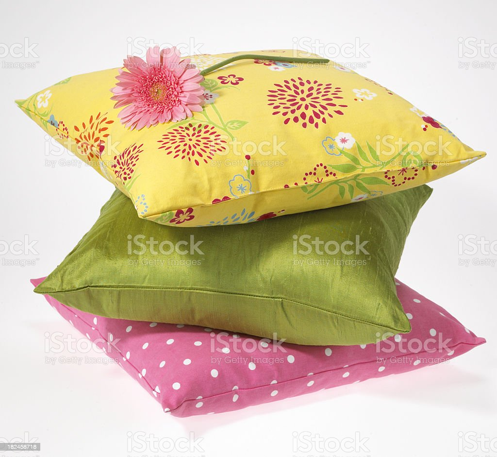 Decor-Pillows with flower royalty-free stock photo