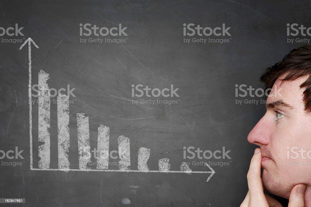 Decrease sales royalty-free stock photo