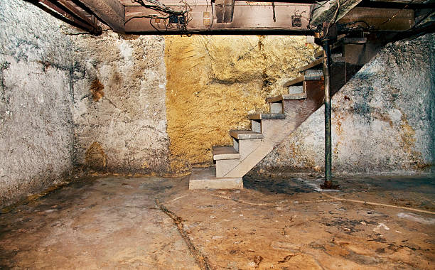 Decrepit basement stock photo
