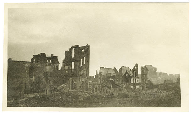 decrepit buildings in bremen germany during the war - world war ii stock photos and pictures