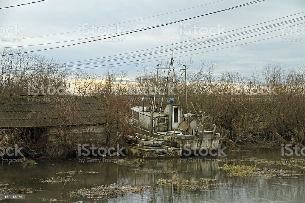Decrepit Fishing Village royalty-free stock photo