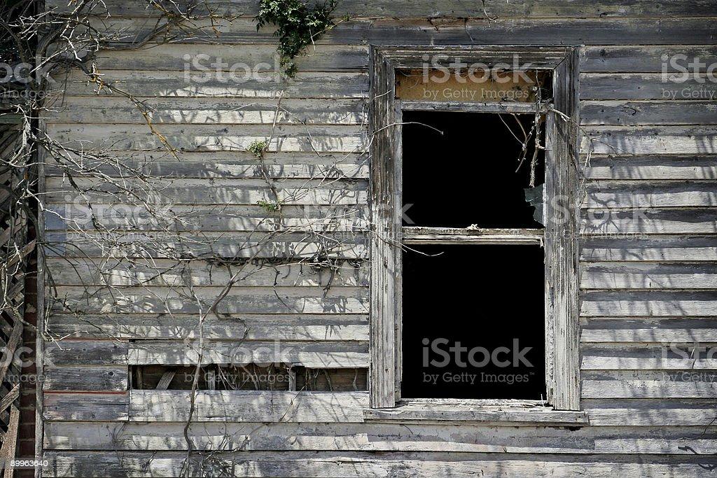 decrepit old window royalty-free stock photo