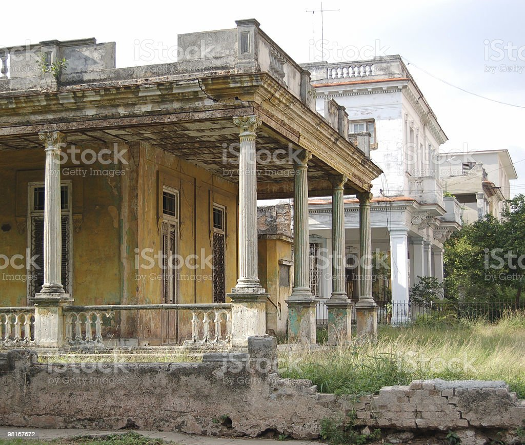 Decrepit Villa, Havana, Cuba royalty-free stock photo