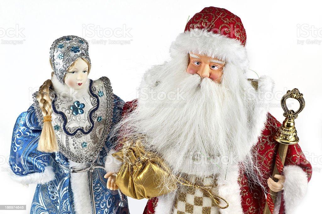 Ded Moroz and Snegurochka royalty-free stock photo