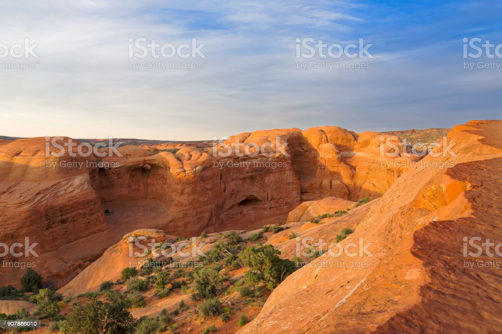 Dedicate Arch  in Arches National Park, Utah stock photo
