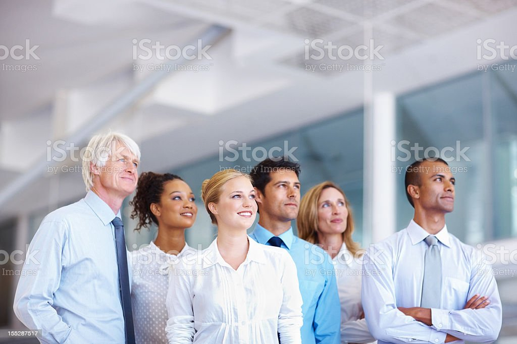 Dedicated business team - copyspace royalty-free stock photo
