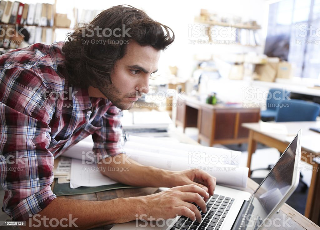 Dedicated to creating great designs stock photo