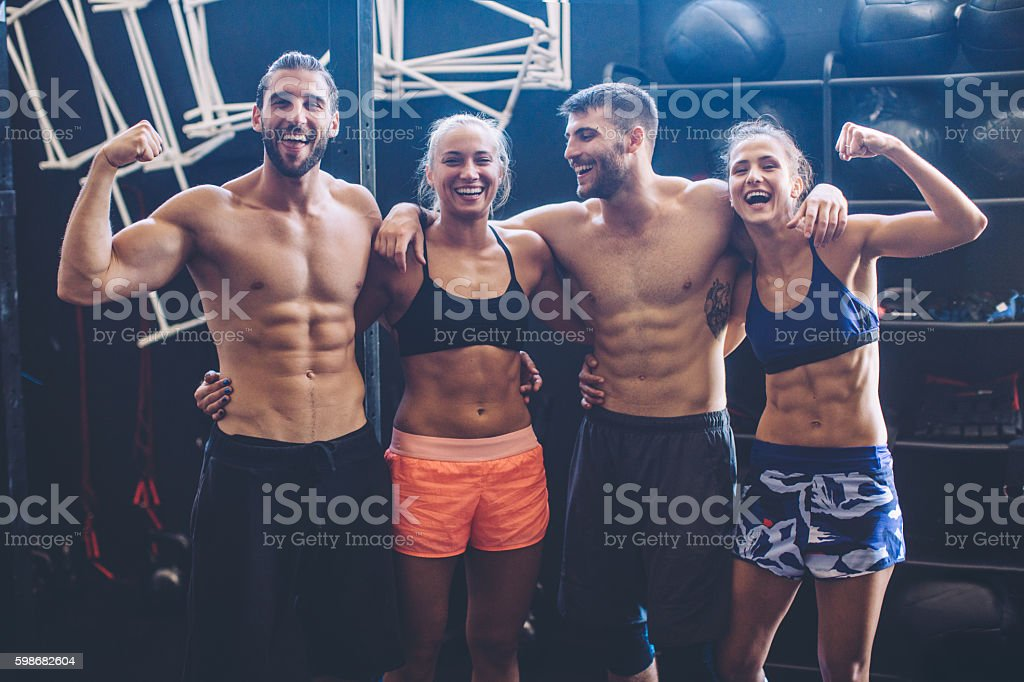 Dedicated to physical fitness stock photo