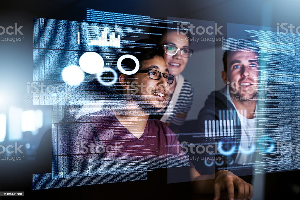 Dedicado de desarrollo de software - foto de stock
