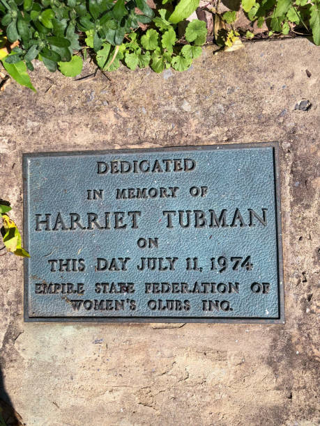 Dedication plaque for Harriet Tubman stock photo