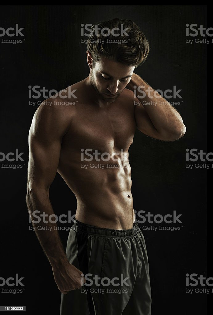 Dedication = Super body royalty-free stock photo