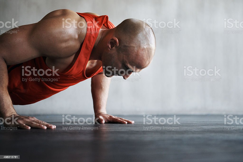 Dedication to daily training stock photo