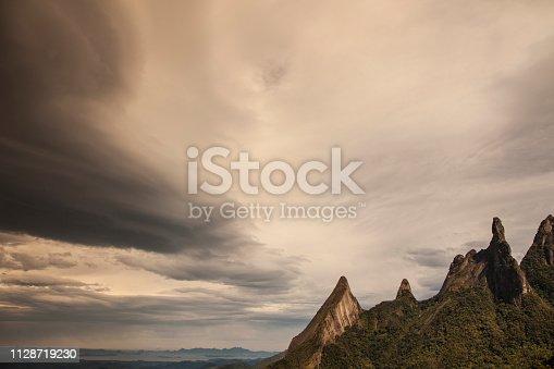 Dedo de Deus is the name of a famous area of the Serra do Mar mountains, near Teresopolis, a city not far from Rio de Janeiro