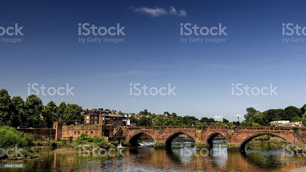 Dee Bridge in Chester stock photo