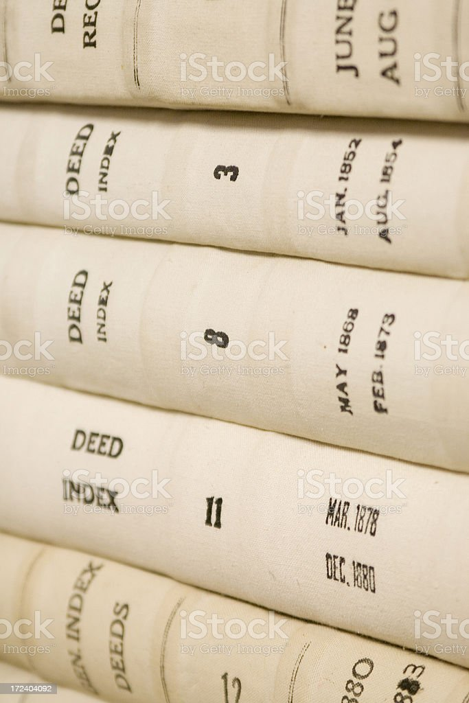 Deed Index Books stock photo