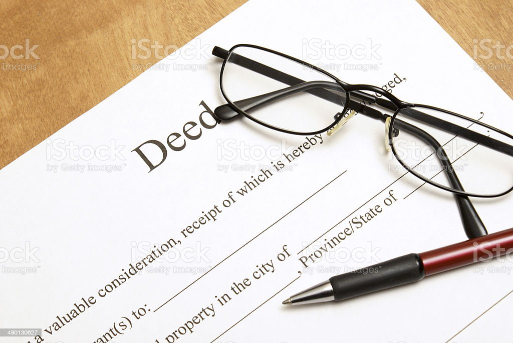 Deed Papers stock photo