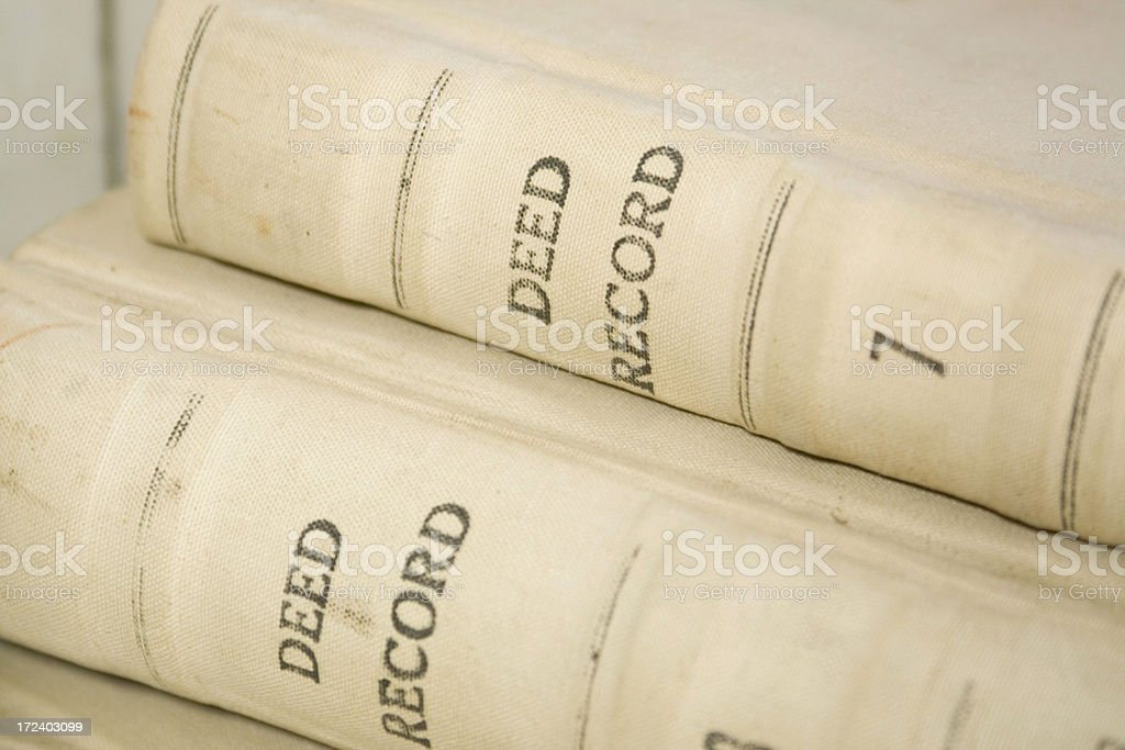 Deed Record Book stock photo