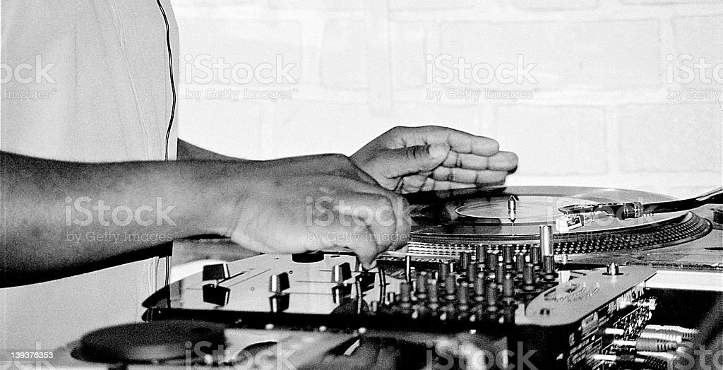Deejay at Work royalty-free stock photo