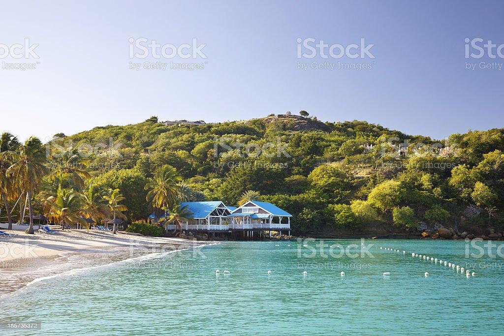 Deep Bay, Antigua stock photo