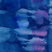 A deep blue and purple background, hand painted with watercolors.