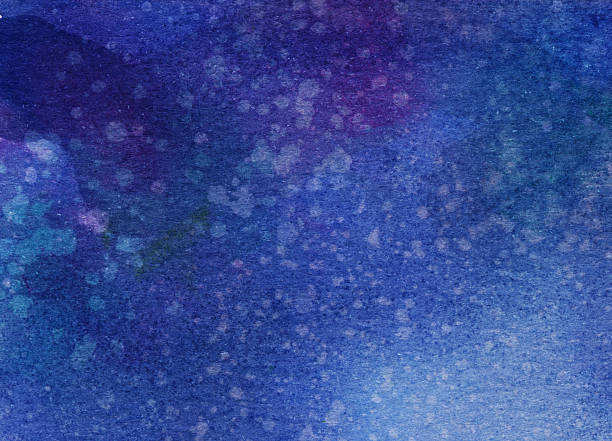 Deep blue and purple hand painted textured background stock photo