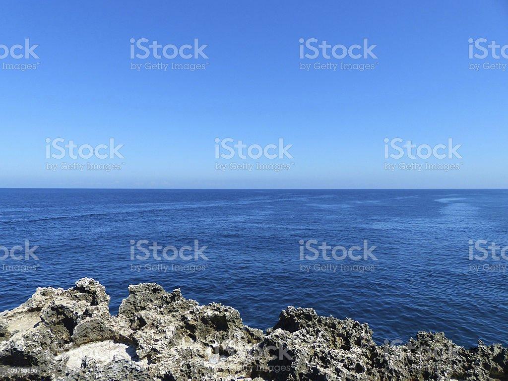 Deep blue Bali sea stock photo