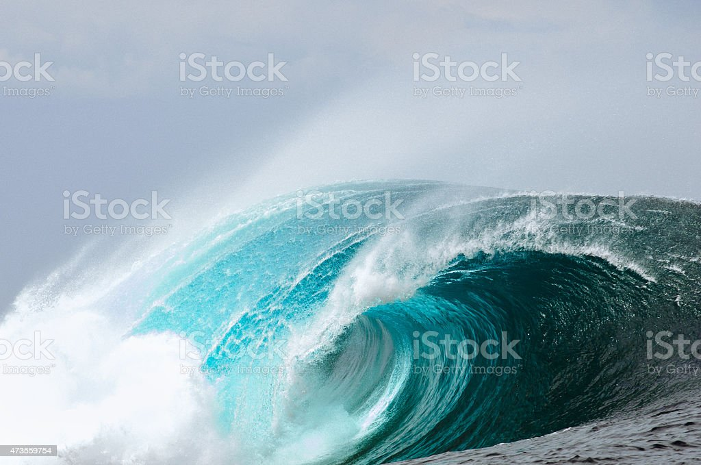 Deep Blue Blast stock photo