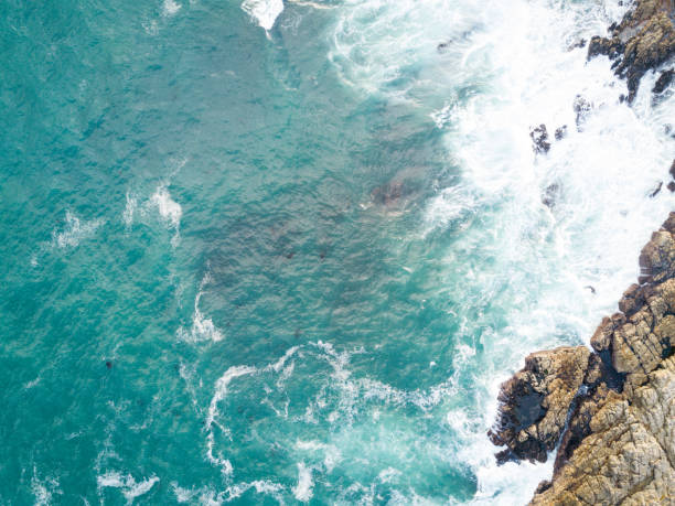 Deep blue Indian Ocean stock photo