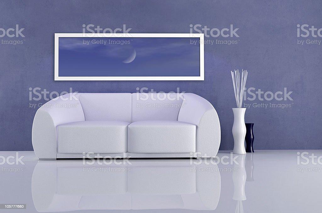 deep blue interior royalty-free stock photo