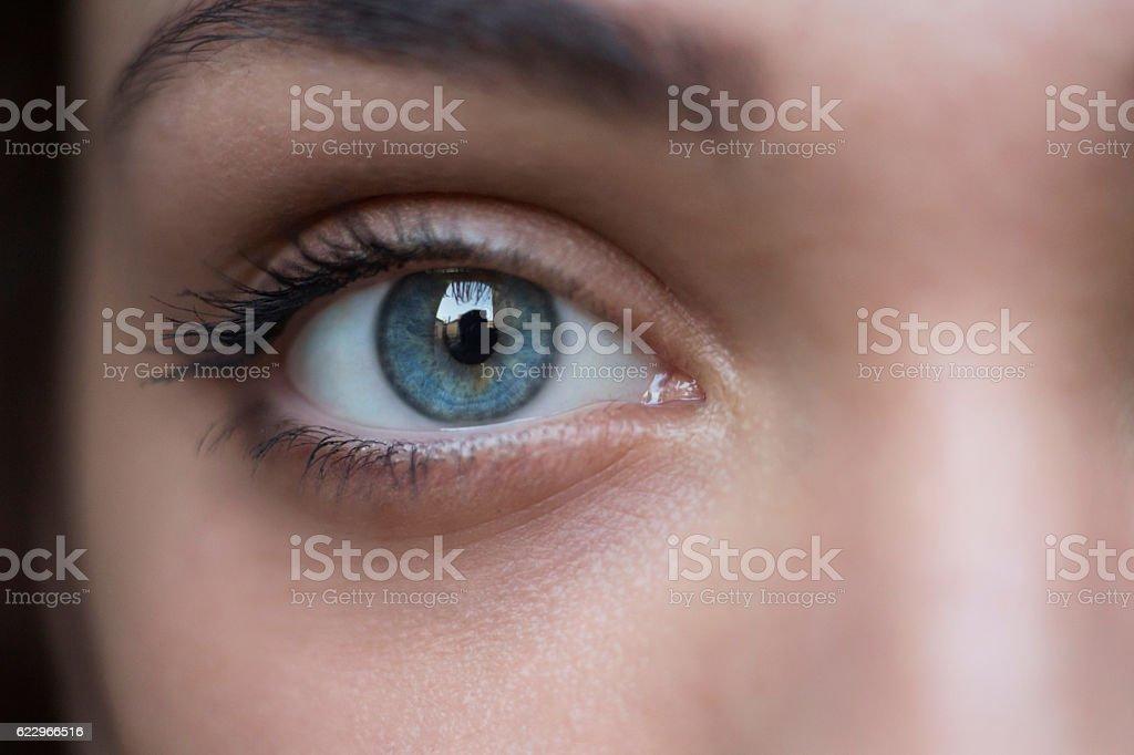 Deep, blue look stock photo