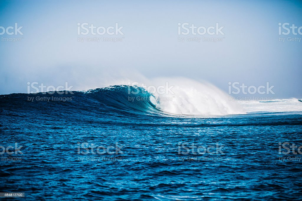 Deep Blue Ocean Wave stock photo
