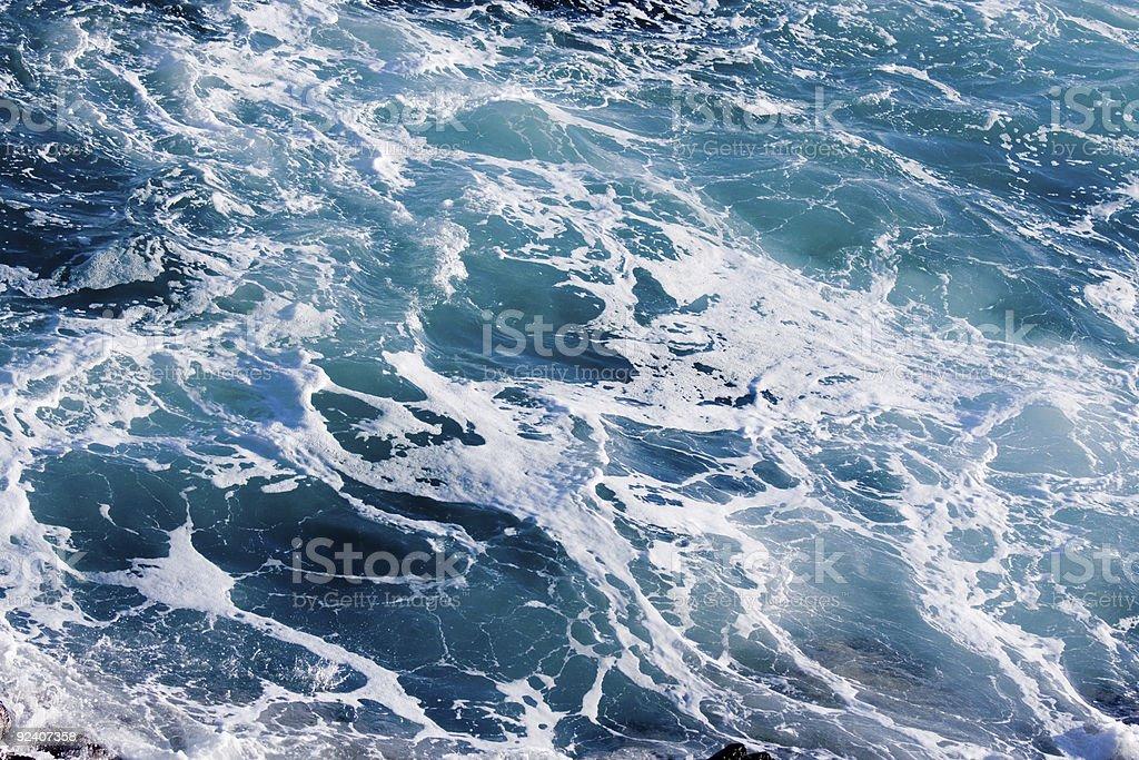 Deep Blue Ominous Ocean Water royalty-free stock photo