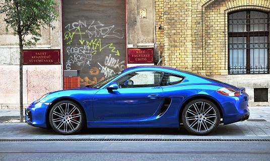 Deep Blue Porsche Stock Photo - Download Image Now