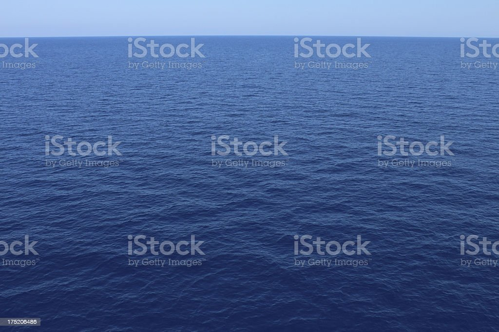 Deep Blue Sea Background royalty-free stock photo