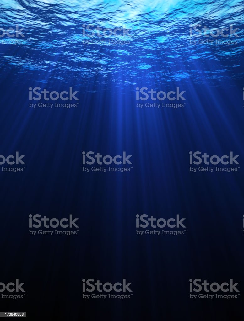 Deep Blue Sea stock photo