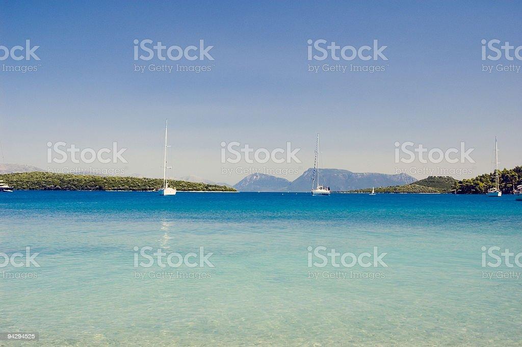 deep blue sea. stock photo