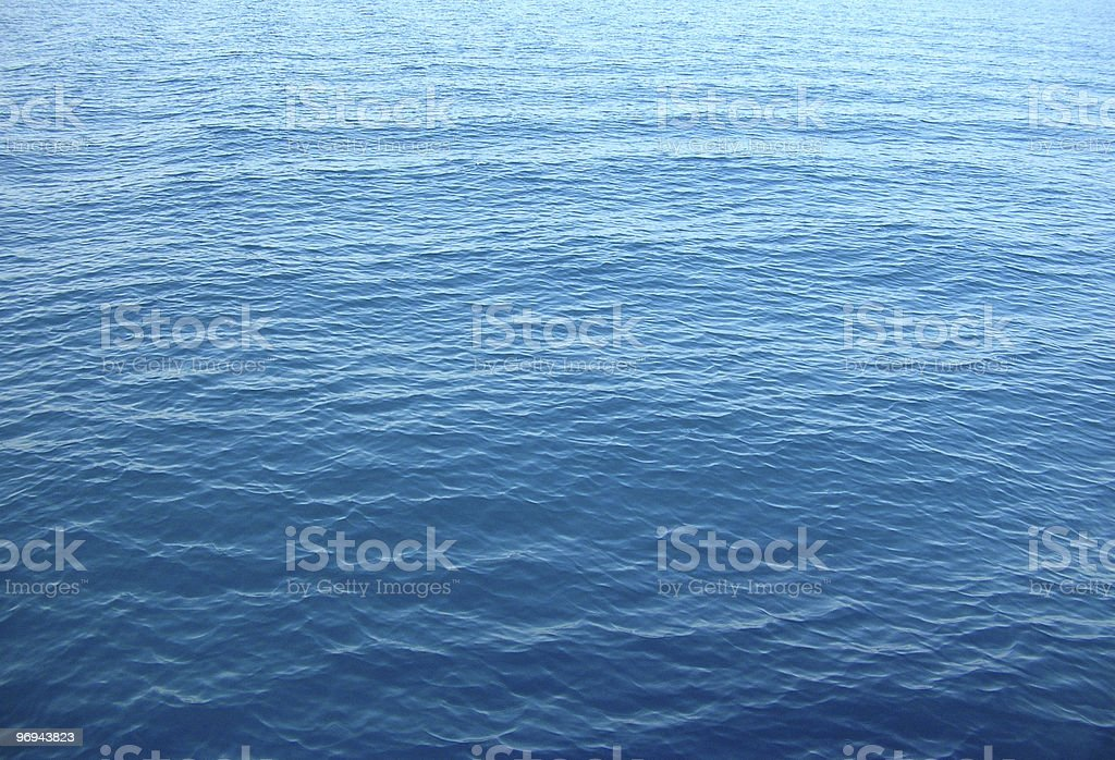 deep blue sea without waves royalty-free stock photo