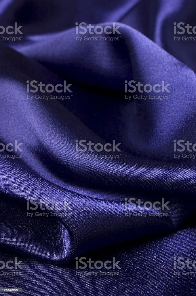 Deep blue silk cloth detail royalty free stockfoto