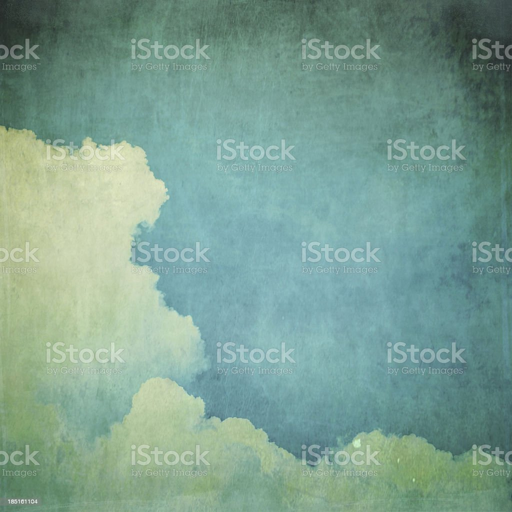 Deep blue sky and clouds vintage royalty-free stock photo