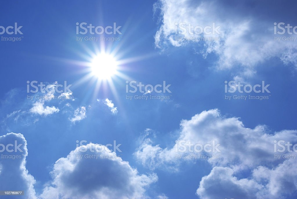 Deep blue sky royalty-free stock photo