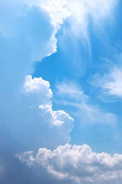 Deep blue sky. stock photo