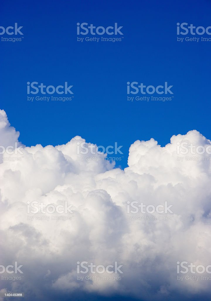 Deep blue sky with clouds royalty-free stock photo