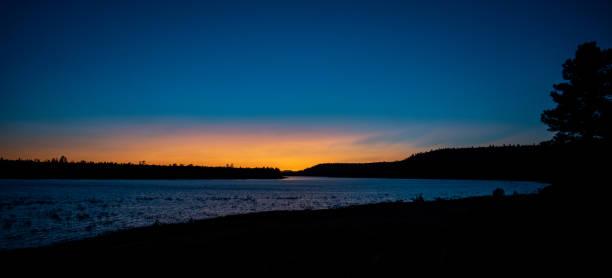 Deep blue sunset stock photo