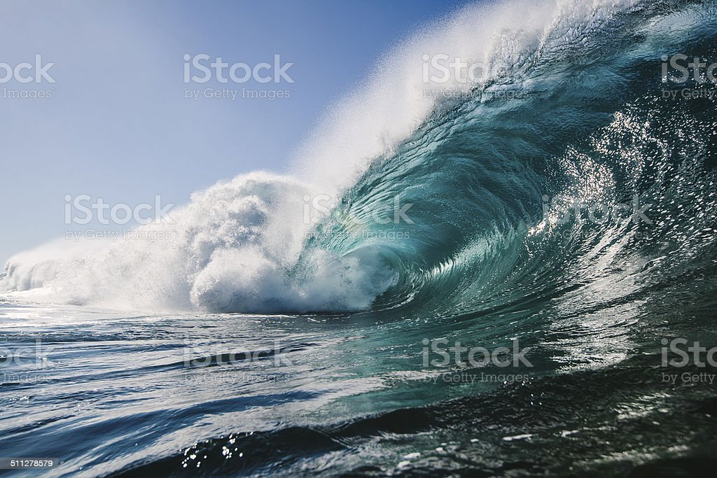 Deep Blue Water Cave stock photo