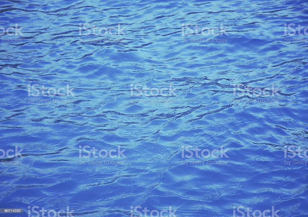 Deep blue water with dark ripples royalty-free stock photo