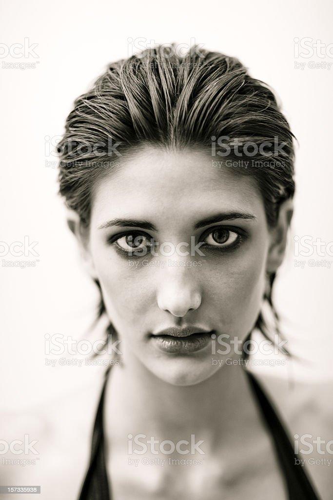 Deep - Classy Woman Portrait. royalty-free stock photo