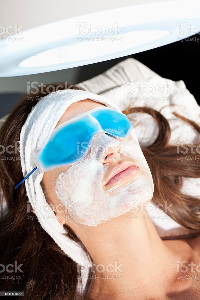 Deep cleansing mask stock photo
