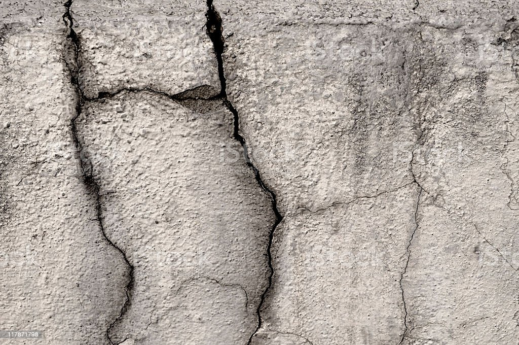 deep cracks in the wall royalty-free stock photo