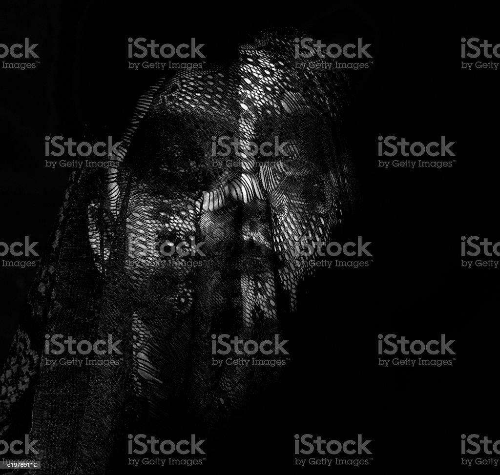 deep dark feelings stock photo