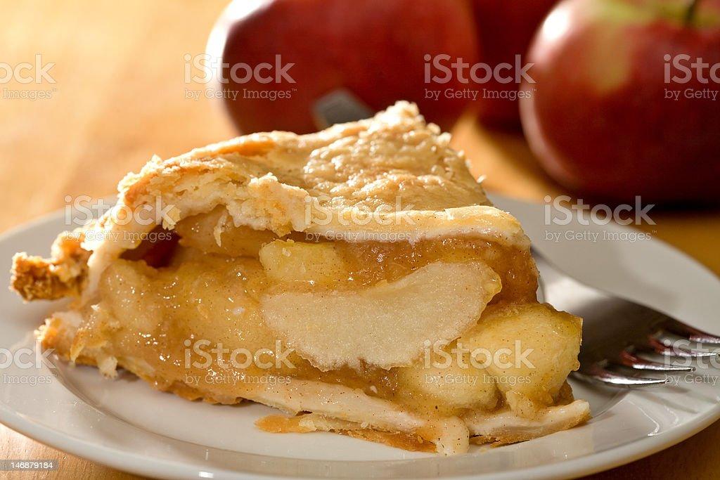 Deep Dish Apple Pie royalty-free stock photo